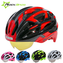 ROCKBROS Hot Cycling Helmet EPS Mountain Road Bike MTB Bicycle Helmet Ciclismo Capacete 32 Air Vents With 3 Lens 50