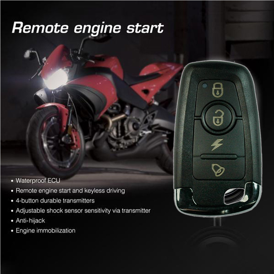 Steelmate Motorcycle Scooter Alarm System Anti Theft
