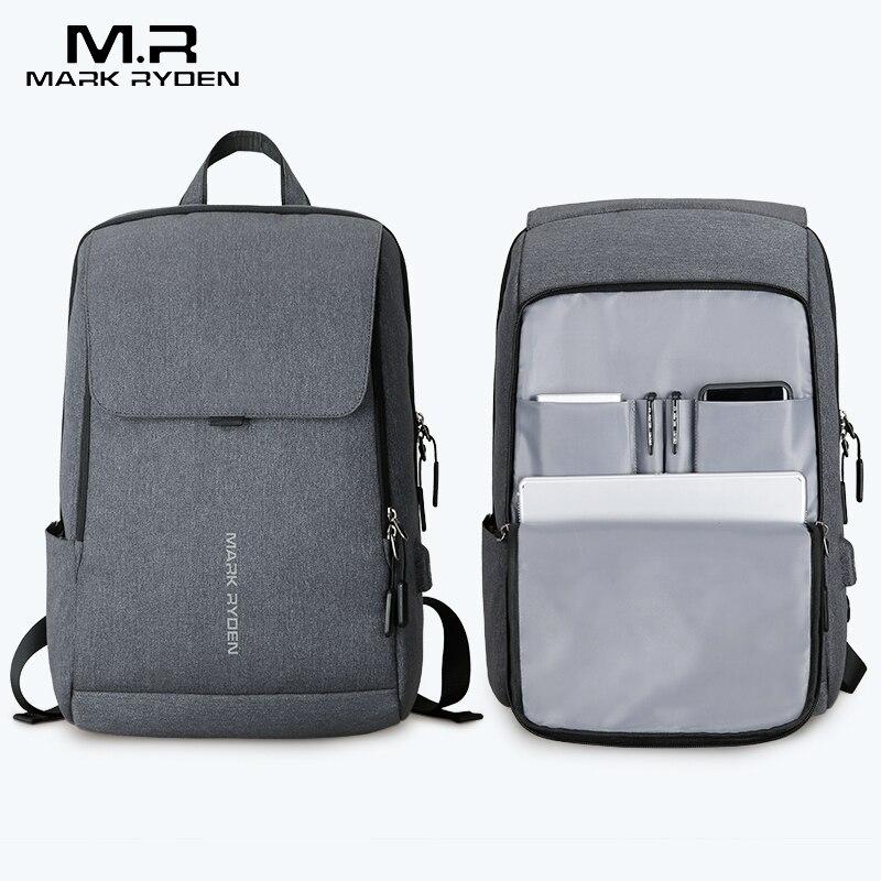 Mark Ryden человек рюкзак USB для подзарядки дюймов 15,6 дюймов ноутбука школьная сумка мальчика Мужской Дорожный рюкзак водонепроница