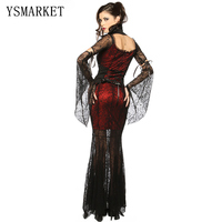 Gothique sexy costume halloween dress costume sexy sorcière vampire costume femmes mascarade halloween party cosplay costume h8836