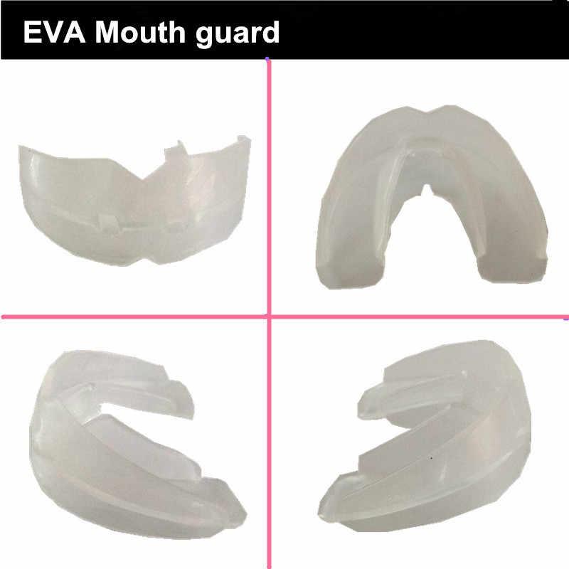 1 Stuk Zeer Zachte Voetbal Boksen MMA EVA Dubbellaags Mond Guard Tanden Protector Gebitsbeschermer Dragen Comfortabele Eenvoudige Voor Volwassen