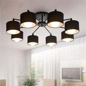 Image 3 - Plafonnier au design créatif moderne simpliste, éclairage dintérieur, luminaire dintérieur, en blanc, en noir, en or et en argent E27, luminaire décoratif de plafond, idéal pour un salon, LED