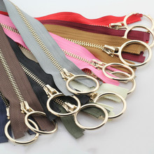 2 Pcs/lot Metal Zipper 70cm 2m Single Open End Decoration Slider Puller Clothing  Jacket Coat Sewing Accessories