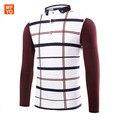 Новый Модный Бренд Тенденция Печати Slim Fit С Длинным Рукавом нагрудные плед с длинными рукавами Поло Homme Slim Мужская Одежда Camisas 3XL