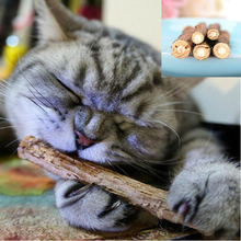 5 pcs Cat Cleaning Teeth Natural Catnip Molar Chew Stick Vine Toy