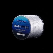 WALK FISH 300M 8 Strand Weaves Fishing Lines PE Braided Multifilament Fishing Rope Wide Angle Braided Technology 22-78LB