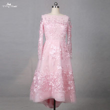 yiaibridal LZ200 Beauty Candy Color Lace Embroidery Dresses