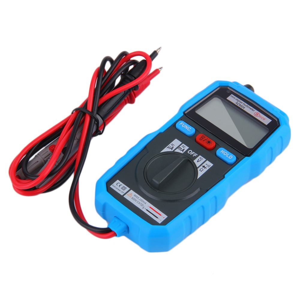 1Pc BSIDE ADM04 Handheld Mini LCD Backlight Digital Multimeter With Test Lead Popular New