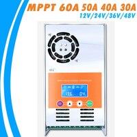 MPPT 60A 50A 40A 30A Solar Şarj ve Deşarj Denetleyicisi 12 V 24 V 36 V 48 V Oto Max 190VDC Giriş için Bacalı Mühürlü Jel Nicd Li