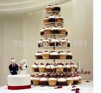 Wedding paper cups acrylic display circular wedding festival double sugar cake tier 7 party acrylic cupcake stand