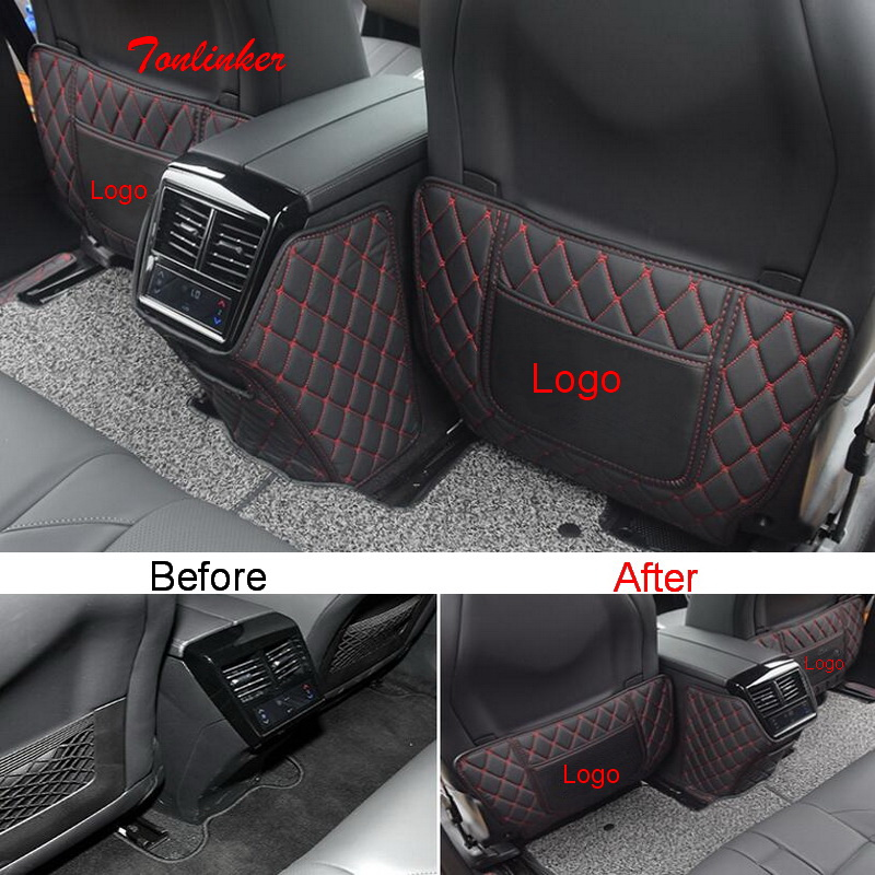 Tonlinker 3 PCS adesivo Da Tampa Do Assento de Carro de volta almofada Anti-sujo para CITROEN DEESSE DS7 2018-19 Carro estilo PU Capa de Couro Adesivos