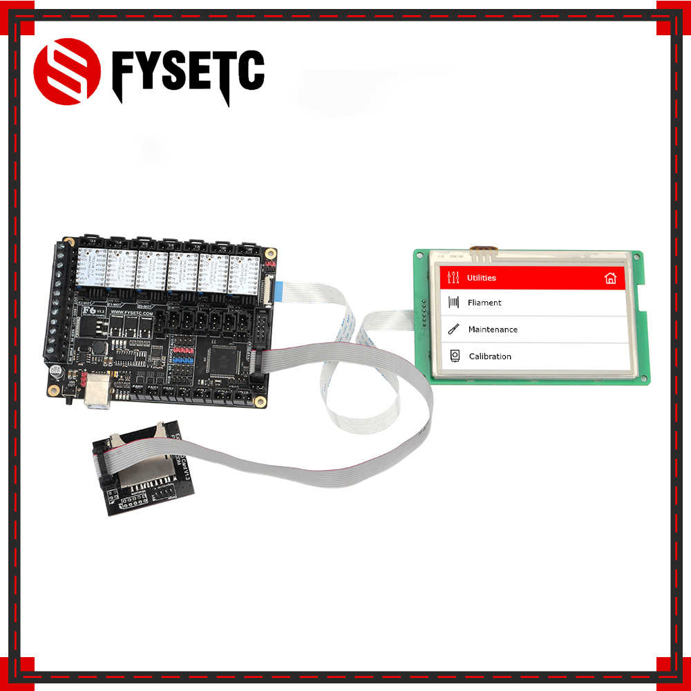 FYSETC F6 V1 3 ALL-in-one Mainboard + 4 3