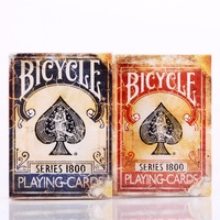 1pcs Bicycle Vintage Series 1800 Deck Blue Red Magic Cards Poker Playing Cards By Ellusionist NEW
