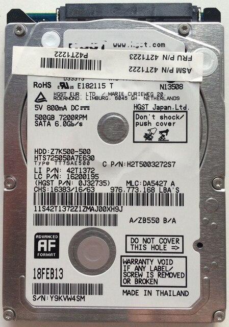 42T1223 500GB 7200rpm Hard Drive T420 T520 T530 W520 W530