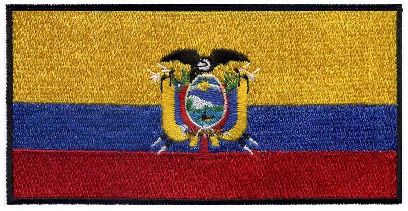 ECUADOR FLAG LETTER PATCH Cloth Embroidered Badge Biker Iron Sew South America