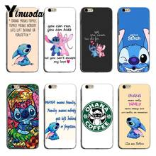 Yinuoda Lilo and Stitch Quote Ohana means Family Luxury TPU Rubber Phone Case For iPhone 8 8plus 7 7plus 6s 6sPlus XSMax X XS XR(China)