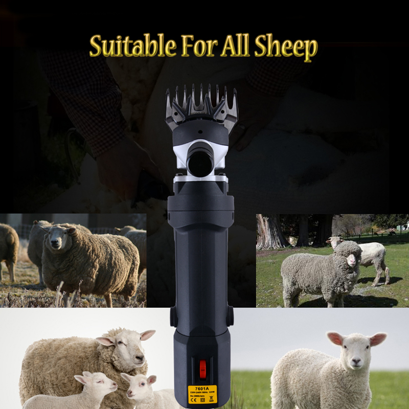 где купить 110V/220V High Power Motor Electric Sheep Clipper Sheep Shearing Clipper Sheep Wool Shear Machine Can Adjustable Speed дешево