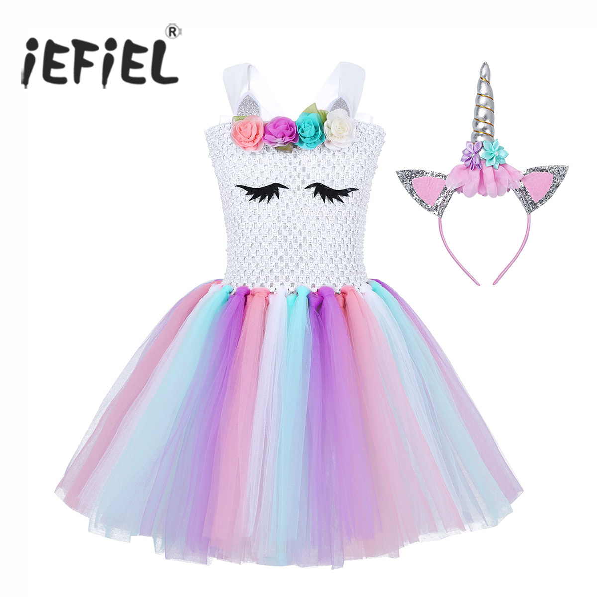 Baby Kid Girls Cartoon Carnival Birthday Party Costume Ballet Tutu Skirt Outfits