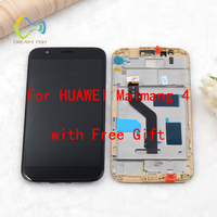DREAM FISH Pantalla For Huawei Full Screen Assembly with Frame for huawei maimang 4 modle LCD Display+touch Digitizel