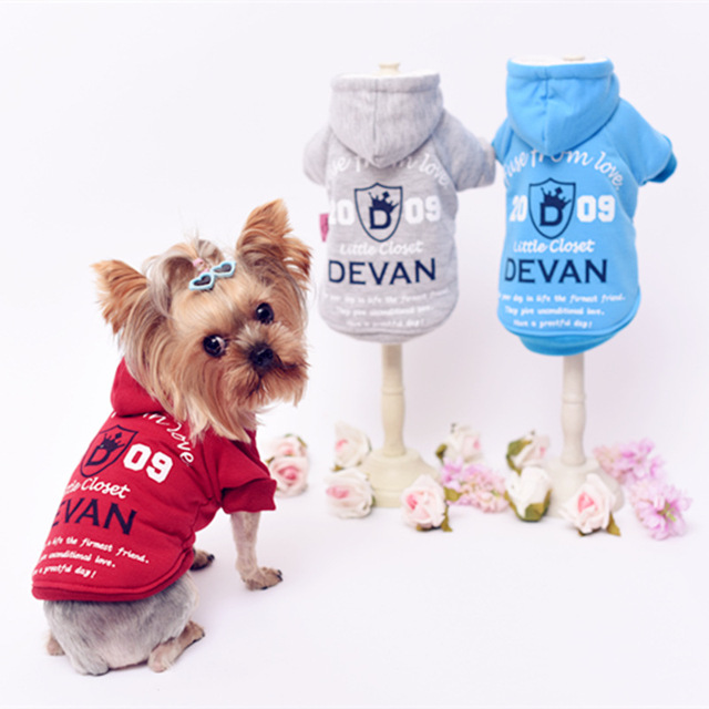 Small Dog Clothes For Yorkies Teddy Dogs Sport Jacket Suit Autumn And  Winter Hoodies Casual Clothing