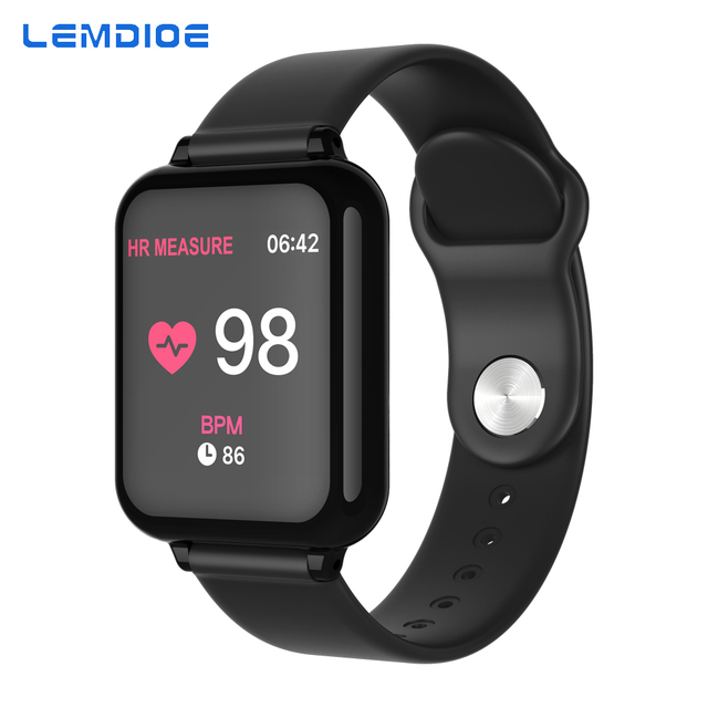 LEMDIOE smart watch men women Heart Rate Blood Pressure Monitoring Call Message Reminder Waterproof Fitness Tracker for android