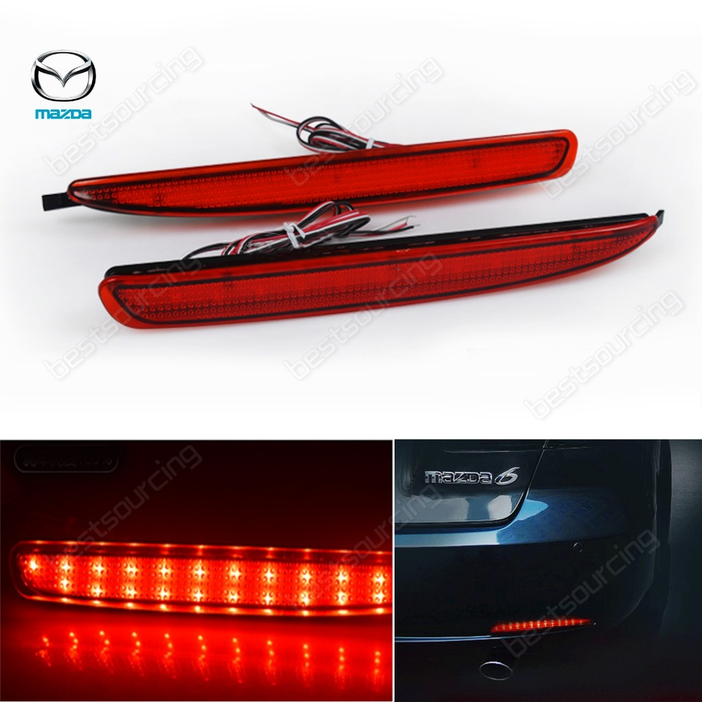 High quality For Mazda6 Mazda 6 2003-08 Atenza Reflector LED back Tail Rear Bumper Light Brake lamp fog light(CA170) rear bumper light fog lamp for mazda cx 5 left and right top quality