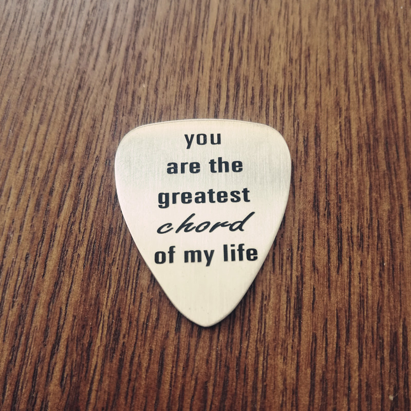 US $7 9 |Greatest Chord of My Life Guitar Pick Valentines Day Gift Mens  Guitar Pick Engraved Gift Anniversary Guitar Pick-in Jewelry Findings &