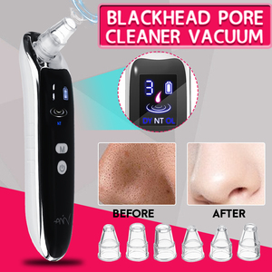 Image 2 - Electric Acne Blackhead Vacuum Cleaner Pore Skin Care Tools Nose Face Deep Cleansing Suction Machine with 6 Head Birthday Gift
