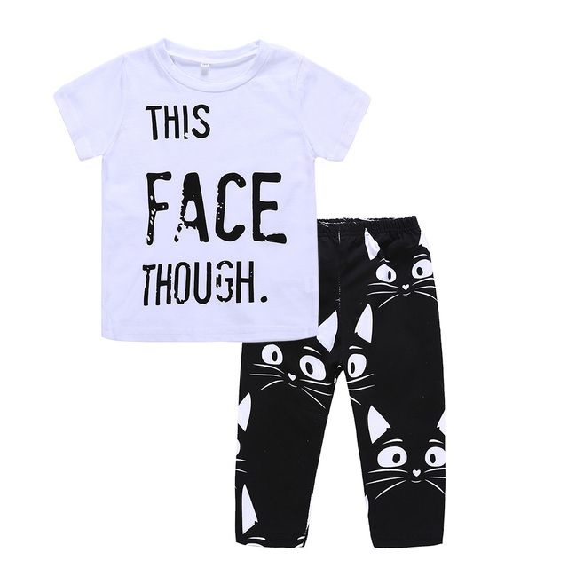 048cbbc2cf83b US $7.18 40% OFF|Baby Boys Clothes Summer Toddler Boy Clothing Sets New  Letter Rad Like Dad T Shirt+Cartoon Dog Pants 2pcs Kids Clothing Set-in ...