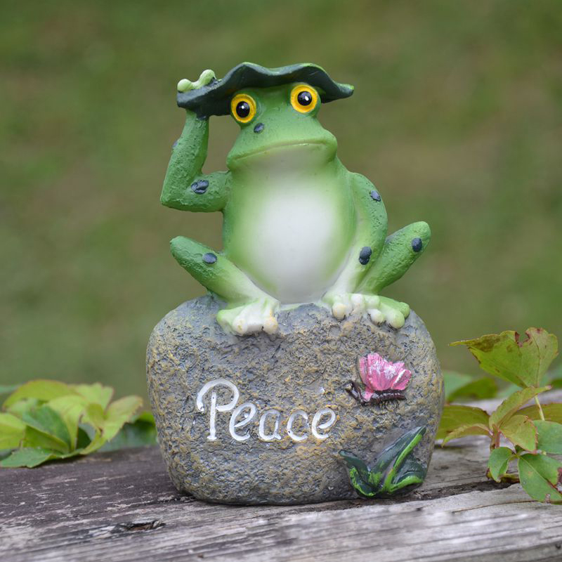 3pcs/lot Hope Enjoy Peace Garden Decoration Frogs Statue Outdoor Artificial  Frogs Pastoral Design Resin Garden Decor Home Decor In Figurines U0026  Miniatures ...