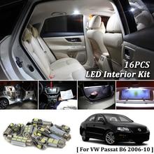 16X Bianco Canbus led Per Auto luci interne Cornici e articoli da esposizione Kit per 2006-2010 Volkswagen VW Passat B6 ha condotto le luci interne kit