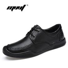 Natural Leather Shoes Men Casual Shoes Lace-Up Flats Shoes Top Quality Soft Leather Men Loafers Moccasins Sneakers Dropshipping цена