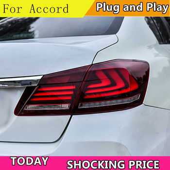 Car Styling LED Tail Lamp for Honda Accord 9 Tail Lights 2014-2016 for Accord Rear Light DRL+Turn Signal+Brake+Reverse LED light - DISCOUNT ITEM  20% OFF All Category