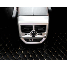 YAQUICKA для peugeot 5008 2017 ABS салона сзади подлокотник воздуха на выходе Vent рамка Обложка отделка Стайлинг отделка наклейка Стикеры