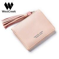 PU Leather Women Small Tassel Wallets Casual Hasp Short Purse Wallet Women Luxury Brand Lady Fashion