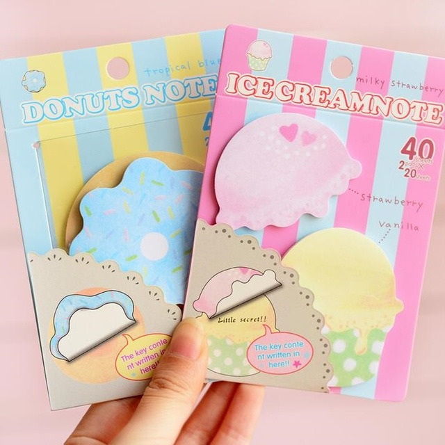 1pcslot sweet ice cream donuts design notepad funny memo pad paper sticky note