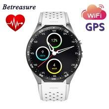 Betreasure KW88 Smart Watch Android 5.1 OS 1.39″ AMOLED Screen 3G Nano SIM WiFi Smart WristWatch MTK6580 GPS HRM Fitness Tracker