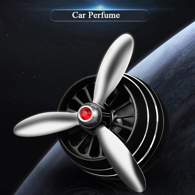 Car Air Freshener Air Vent Perfume Freshener for BMW Audi Toyota Ford Car Decor LED Fan Fragrance Clip in Auto Car Styling