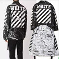 Off white jacket tie dyed striped jacket Men and women casual Bomber Coat yeezy yeezus military uniform Camouflage Outerwear 112