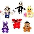 6 pçs/set FNAF das 10 cm Cinco Noites No Freddy Freddy Urso foxy Bonnie Chica Brinquedos de Pelúcia crianças boneca de pelúcia presente