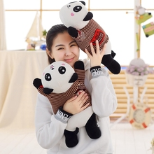 цены 30/45/65 Cm Soft Panda Plush Toy Stuffed Cute Animal Panda Cushion Pillow For Kids Appease Toy Baby's Room Decoration