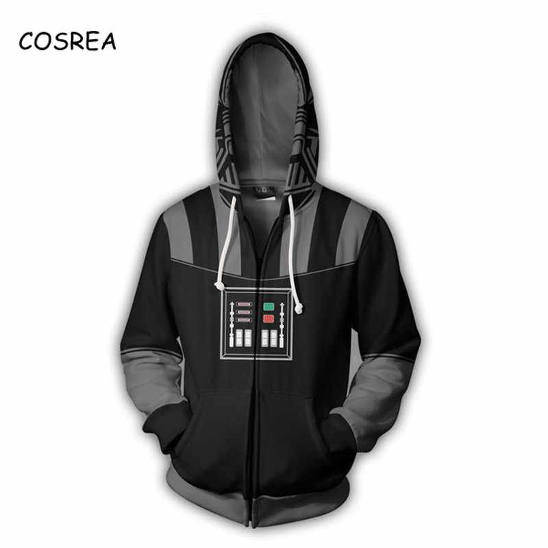 Star Wars R2-D2 Robot Anakin Skywalker/Darth Vader Kylo Ren Luke Stormtrooper Cosplay Kostum Pria Sweatshirt Berkerudung Streetwear