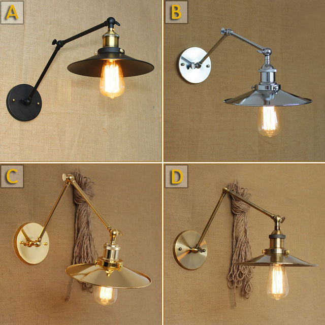 Retro Loft Edison Wall Lamp Bedroom Vintage Wall Lights For Home Up Down Rustic Industrial Wall Sconce lamparas de pared edison inustrial loft vintage amber glass basin pendant lights lamp for cafe bar hall bedroom club dining room droplight decor