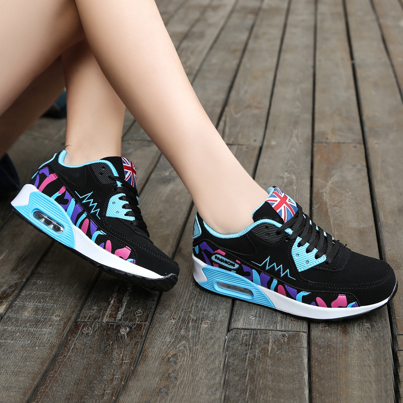 2018 otoño Zapatos de Mujer cojín de aire deportes femeninos transpirables mujeres zapatillas de deporte al aire libre para Mujer Zapatos para caminar al aire libre
