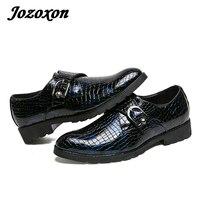 Jozoxon De Luxe Marque Hommes En Cuir Casual Chaussures Hommes Robe Oxford Chaussures de Haute Qualité En Plein Air Chaussures Croc Chaussures Semelle En Caoutchouc Size38-44