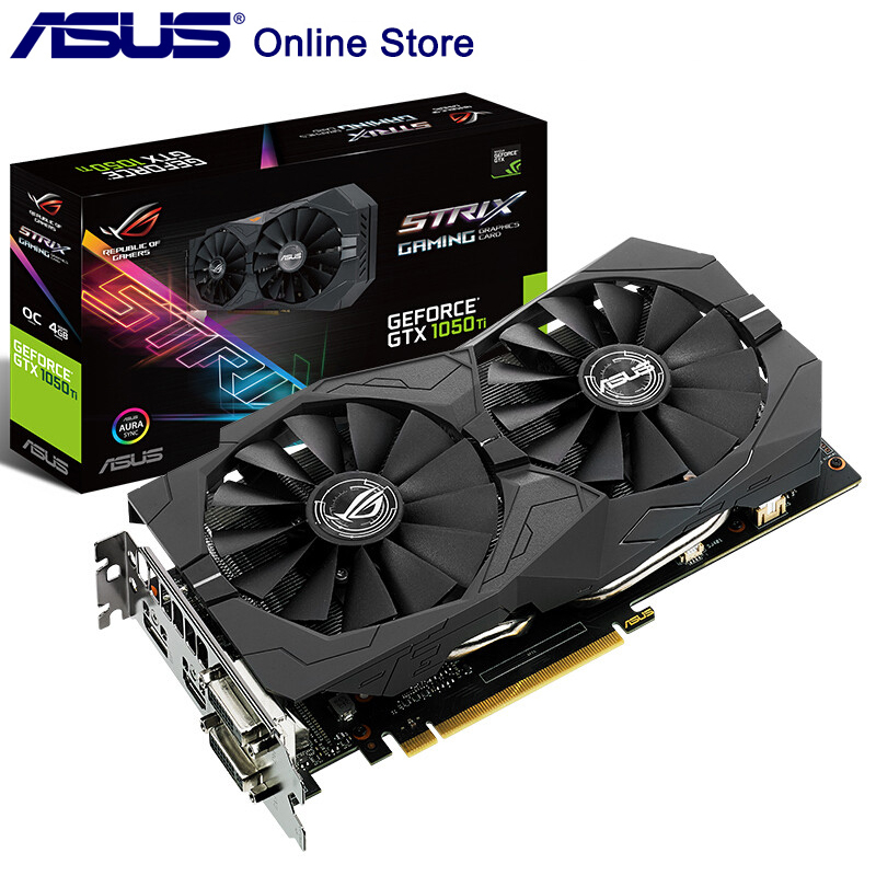 Original ASUS ROG STRIX GTX1050TI O4G GAMING Video Card de