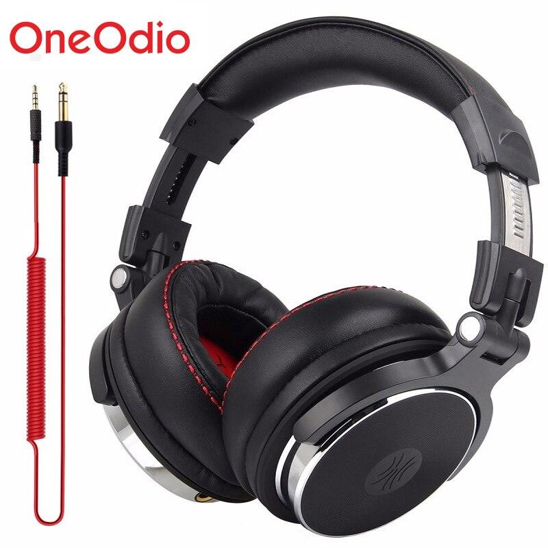Monitores de Estúdio Fone De Ouvido DJ DJ Profissional Com Fio de fone de Ouvido Sobre a Orelha Estúdio Fones de Ouvido Com Fio Fone de Ouvido Estéreo Para O Telefone Do Computador