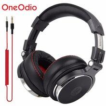 Oneodio Professional DJ Studio 유선 헤드폰 모니터 헤드셋 오버 이어폰 녹음 헤드폰 전화 컴퓨터 용 스테레오 이어폰