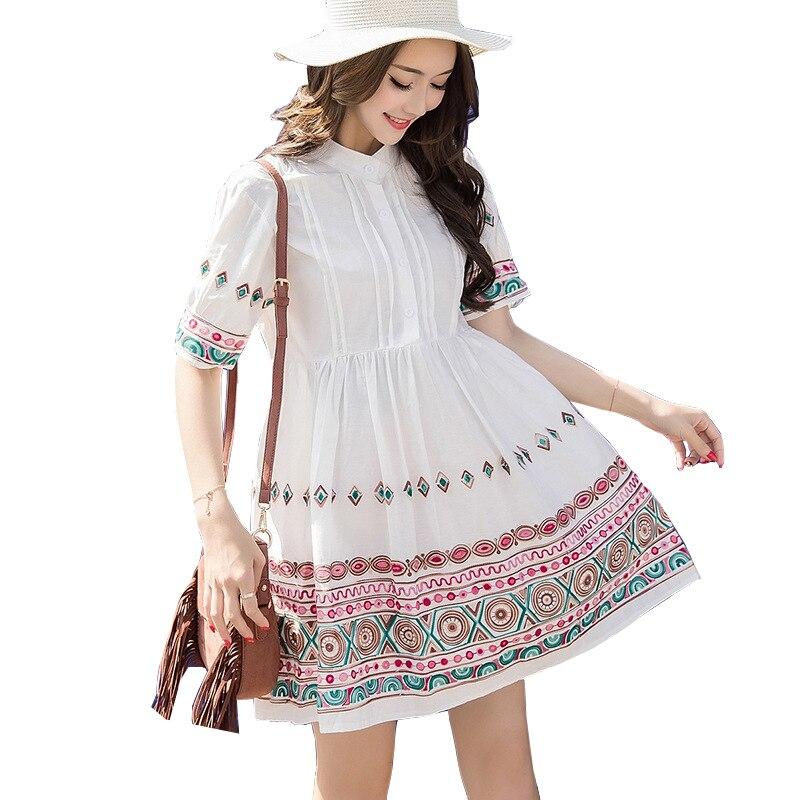 8 Patterns Vintage Maternity Nursing Dresses Breastfeeding 2018 Fashion Summer Clothes -8957