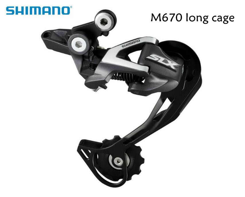 Shimano SLX RD-M670 M670 Rear Derailleur SGS bike bicycle 10speed Rear Derailleur Shadow Long cage цена